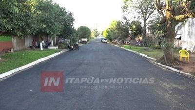 CNEL. BOGADO:  REGULARIZACIÓN ASFÁLTICA YA LLEGA AL 100% DE SU CULMINACIÓN