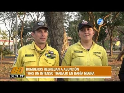 Tras intenso trabajo, bomberos regresan del Chaco