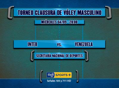 Inter y Venezuela, por el Metropolitano masculino