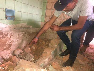 CDE: hallan restos óseos en ex casa de Stroessner