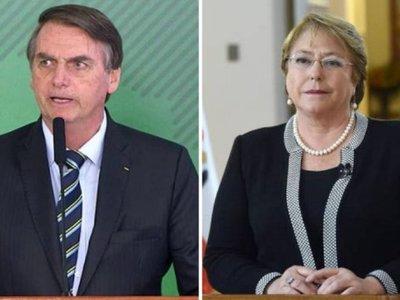 Bolsonaro ataca a Bachelet por informe de ONU y alaba a Pinochet