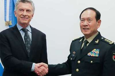 Macri se reúne con el ministro de Defensa chino para reforzar la cooperación