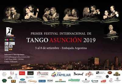 Inicia hoy el Primer Festival Internacional del Tango Asunción 2019