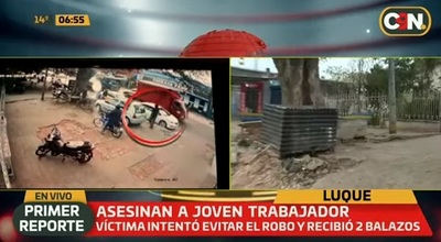 Motochorros asesinan a trabajador en Luque