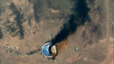 Irán confirma explosión en un centro espacia