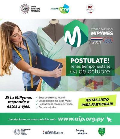 "Inicia concurso ""Premio Nacional Mipymes 2019"""