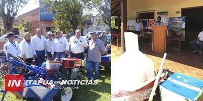 CNEL. BOGADO: IMPORTANTE ENTREGA DE HERRAMIENTAS A PEQUEÑOS PRODUCTORES