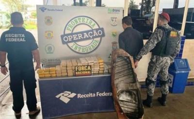Otro paraguayo cae con más de 40 kg de droga en Aduana brasileña