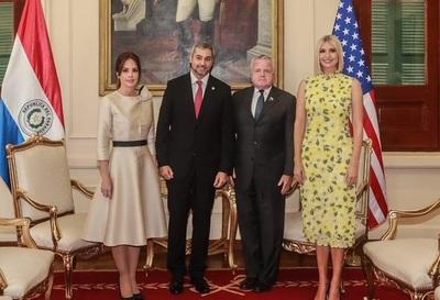 Mario Abdo recibe a Ivanka Trump en Palacio de Gobierno