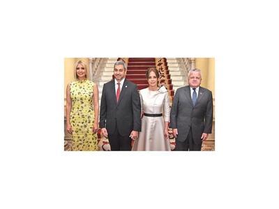 Visita de Ivanka Trump al Palacio de López