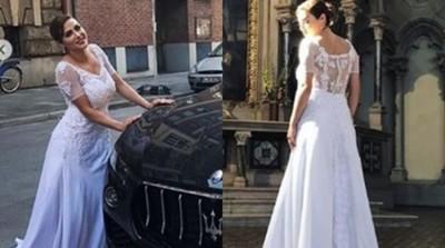 Claudia De Andrade Sorprendió A Todos Con Vestido De Novia En Alemania