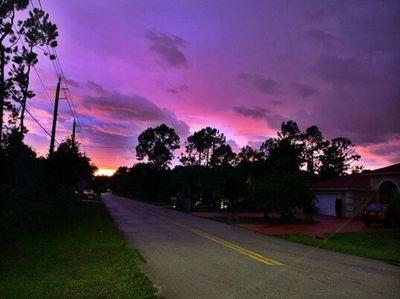 Huracán Dorian: por qué el cielo se volvió púrpura en Florida