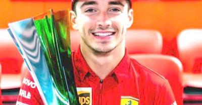 Leclerc ganó en Monza