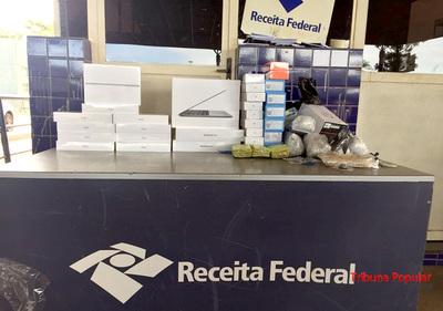 Receita Federal requisa productos informáticos y relojes de contrabando