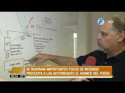 Se reavivan importantes focos de incendio en el Chaco
