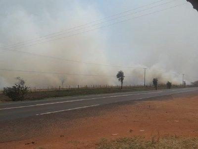 Incendio afecta a una estancia en Yby Yaú
