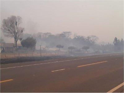Incendio forestal ahora llega a la Reserva Mbaracayú
