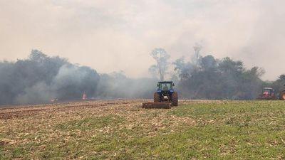Aproximadamente 30 hectáreas de bosque se quemaron en zona de Naranjal
