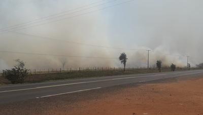 Incendios forestales afectan a Yby Ya´u, Arroyito y Azote´y