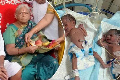 Tiene 73 años y dio a luz a gemelas