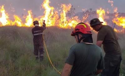 Bomberos y guardias forestales de ITAIPU lograron controlar incendios