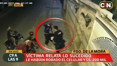 Delivery asaltado lamenta inacción de la policía