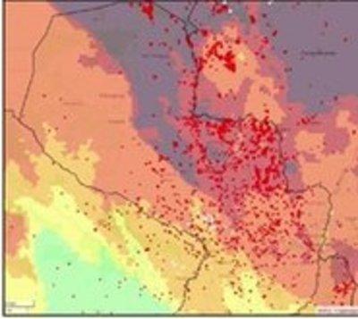 Detectan más de 7.800 focos de calor en todo el país