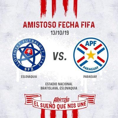 Anuncian amistoso internacional entre Eslovaquia y Paraguay