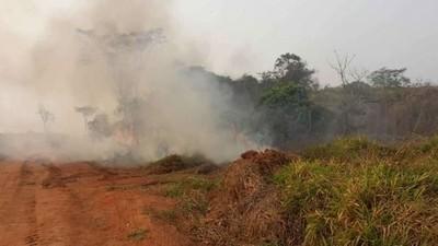 Paso Yobái: incendio afectó a una mina de oro