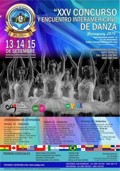 Realizan el XXV concurso y encuentro interamericano de Danza