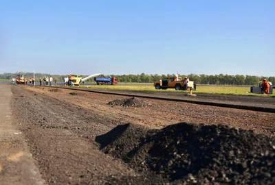 Finaliza primera etapa de intervención en pista principal del Aeropuerto •