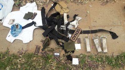 Las evidencias incautadas tras balacera y fuga de peligroso narco