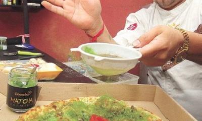 A full se va la pizza fit a base de té verde