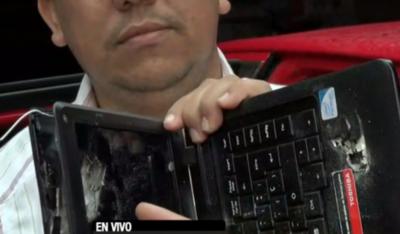 """HOY / Salvado por una laptop durante rescate de Samura: """"Volví a nacer"""""""