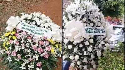 HOY / Abdo y Villamayor envían coronas de flores y familia del comisario Ferrari las tira