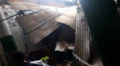 Cayó techo de comedor del Mercado 4 y no reportan heridos