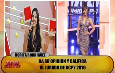 Norita Rodríguez criticó el desempeño de Larissa Riquelme