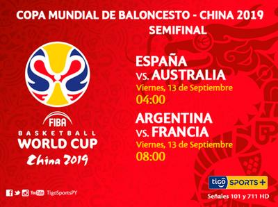La semifinal del Mundial de básquet se vive por Tigo Sports +