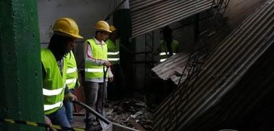 Derrumbe en el Mercado 4 no dejó heridos