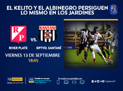 River Plate y Deportivo Santaní se miden en los Jardines del Kelito