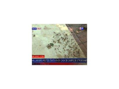 Encontraron más restos óseos en la excasa de Stroessner