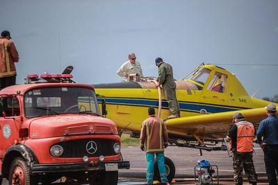 Más aviones para combatir incendios en el Chaco