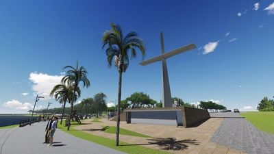 Levantarán enorme cruz en la costanera de Villa Florida