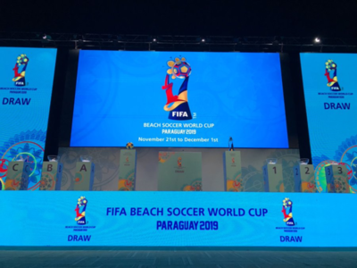 Grupos definidos para el Mundial de Fútbol Playa, Paraguay 2019