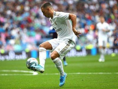 Hazard deja destellos de calidad en su estreno en el Bernabéu
