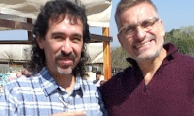 Michelín Ortiz se encontró en Argentina con varios de sus ídolos