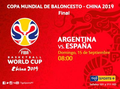 Argentina y España buscan quedarse con el Mundial de la FIBA