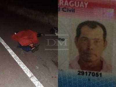Identifican a motociclista fallecido en Ayolas