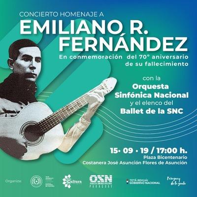 Recital en homenaje a Emiliano R. Fernández en la Costanera
