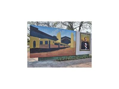 Mural del primer presidente revitaliza el  parque de Sajonia